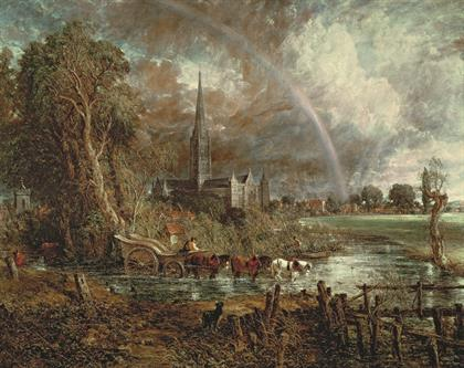 John Constable, Salisbury Cathedral from the Meadows, 1831, Tate.jpg